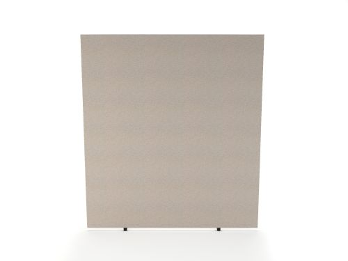 Impulse Plus Oblong 1800/600 Floor Free Standing Screen Light Grey Fabric Light Grey Edges
