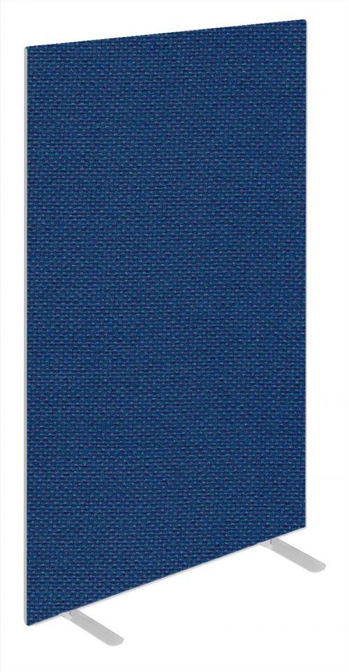 Impulse Plus Oblong 1800/600 Floor Free Standing Screen Powder Blue Fabric Light Grey Edges