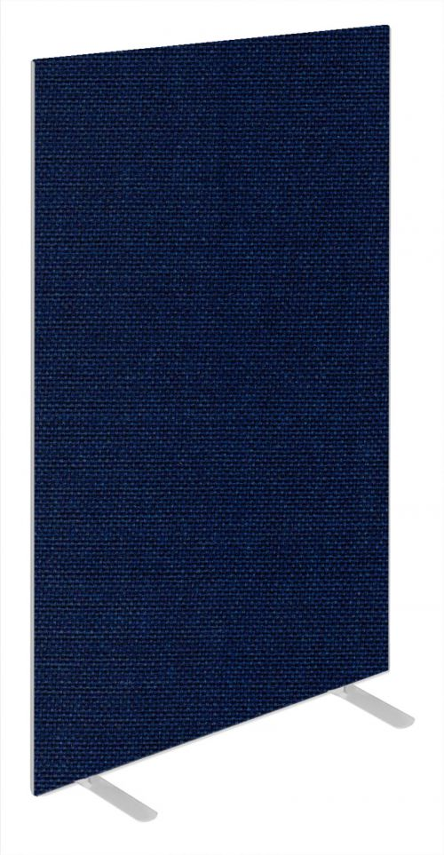 Impulse Plus Oblong 1800/600 Floor Free Standing Screen Royal Blue Fabric Light Grey Edges