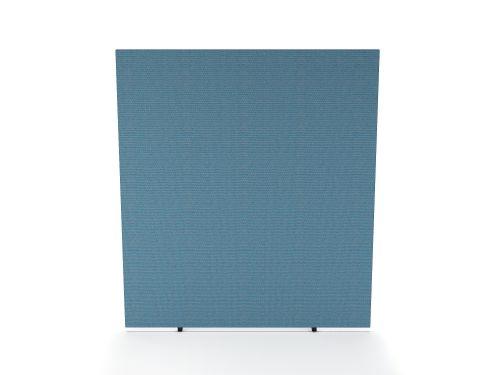 Impulse Plus Oblong 1800/600 Floor Free Standing Screen Sky Blue Fabric Light Grey Edges