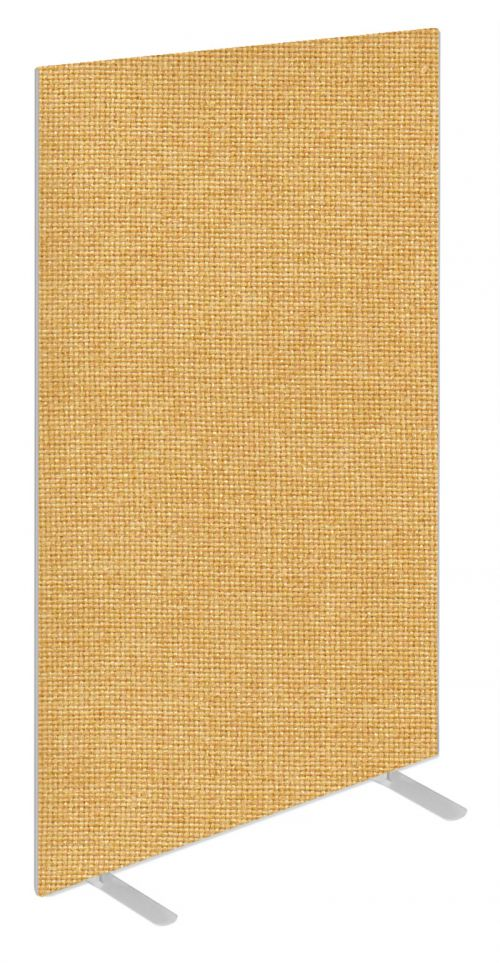 Impulse Plus Oblong 1800/800 Floor Free Standing Screen Beige Fabric Light Grey Edges