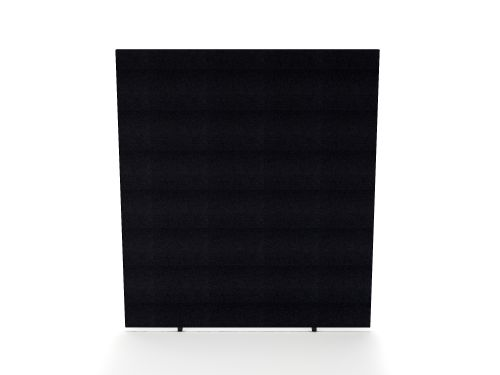 Impulse Plus Oblong 1800/800 Floor Free Standing Screen Black Fabric Light Grey Edges