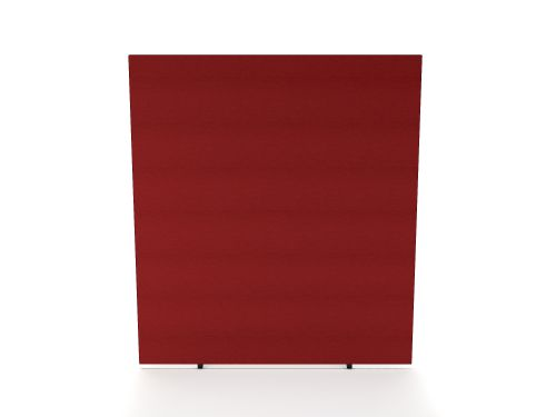 Impulse Plus Oblong 1800/800 Floor Free Standing Screen Burgundy Fabric Light Grey Edges