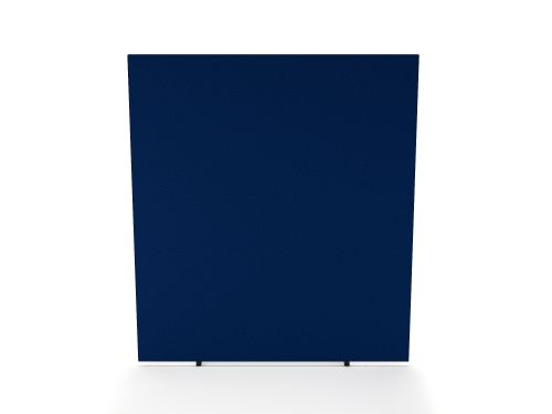 Impulse Plus Oblong 1800/800 Floor Free Standing Screen Powder Blue Fabric Light Grey Edges