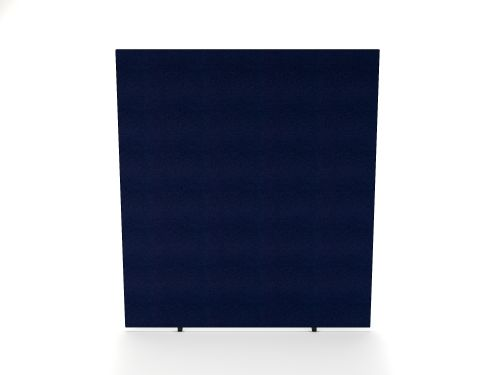 Impulse Plus Oblong 1800/800 Floor Free Standing Screen Royal Blue Fabric Light Grey Edges