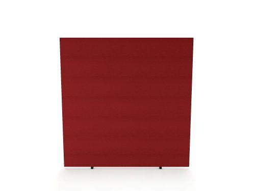 Impulse Plus Oblong 1800/1000 Floor Free Standing Screen Burgundy Fabric Light Grey Edges