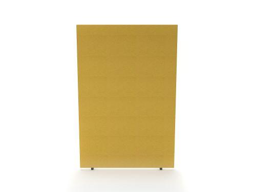 Impulse Plus Oblong 1800/1200 Floor Free Standing Screen Beige Fabric Light Grey Edges