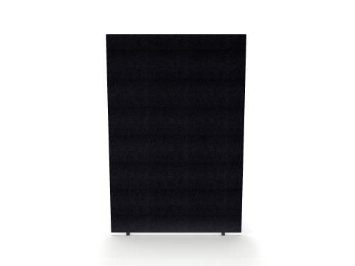 Impulse Plus Oblong 1800/1200 Floor Free Standing Screen Black Fabric Light Grey Edges