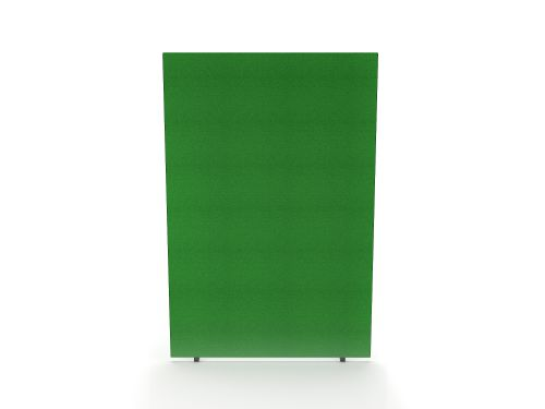 Impulse Plus Oblong 1800/1200 Floor Free Standing Screen Palm Green Fabric Light Grey Edges