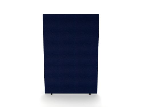 Impulse Plus Oblong 1800/1200 Floor Free Standing Screen Royal Blue Fabric Light Grey Edges