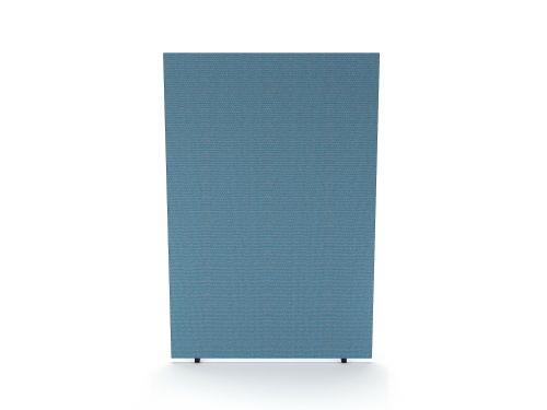 Impulse Plus Oblong 1800/1200 Floor Free Standing Screen Sky Blue Fabric Light Grey Edges