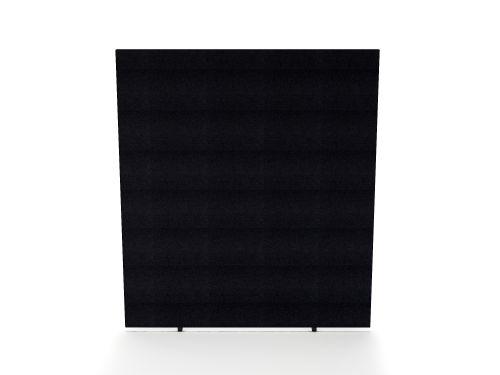Impulse Plus Oblong 1800/1400 Floor Free Standing Screen Black Fabric Light Grey Edges
