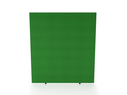 Impulse Plus Oblong 1800/1400 Floor Free Standing Screen Palm Green Fabric Light Grey Edges