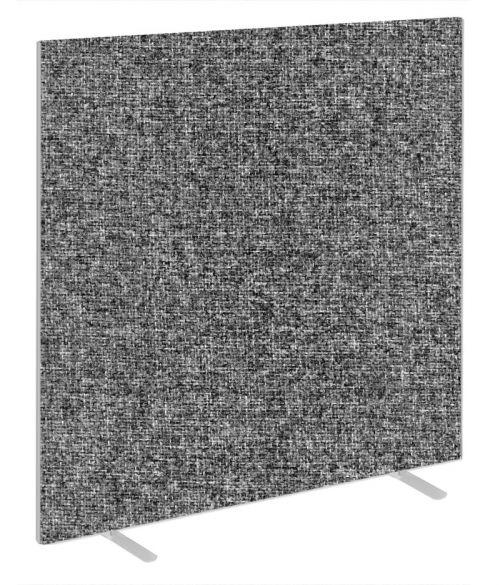 Impulse Plus Oblong 1800/1500 Floor Free Standing Screen Lead Fabric Light Grey Edges