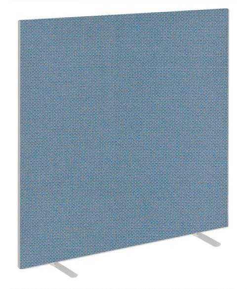 Impulse Plus Oblong 1800/1500 Floor Free Standing Screen Sky Blue Fabric Light Grey Edges