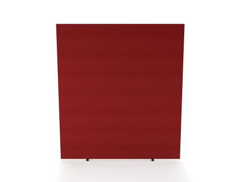Impulse Plus Oblong 1800/1600 Floor Free Standing Screen Burgundy Fabric Light Grey Edges