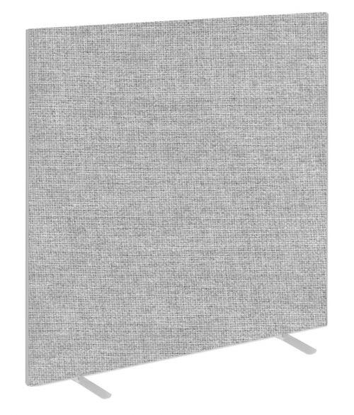 Impulse Plus Oblong 1800/1600 Floor Free Standing Screen Light Grey Fabric Light Grey Edges