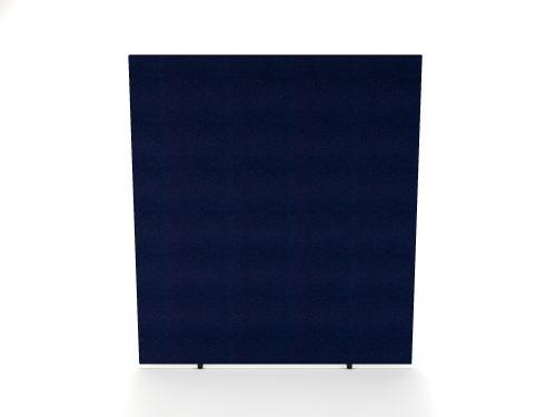 Impulse Plus Oblong 1800/1600 Floor Free Standing Screen Royal Blue Fabric Light Grey Edges