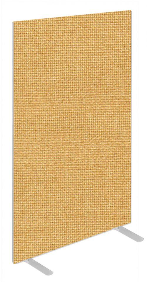 Impulse Plus Oblong 1650/600 Floor Free Standing Screen Beige Fabric Light Grey Edges