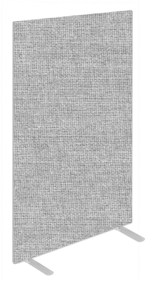 Impulse Plus Oblong 1650/600 Floor Free Standing Screen Light Grey Fabric Light Grey Edges