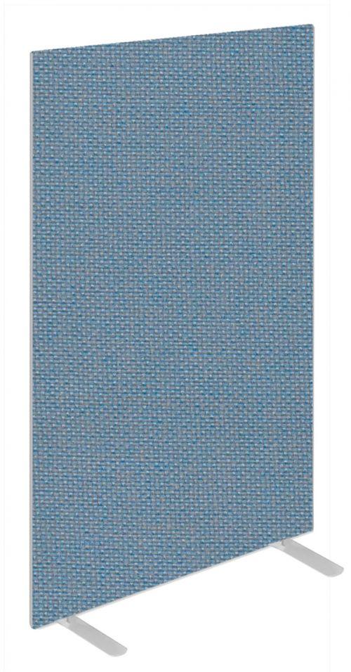 Impulse Plus Oblong 1650/800 Floor Free Standing Screen Sky Blue Fabric Light Grey Edges