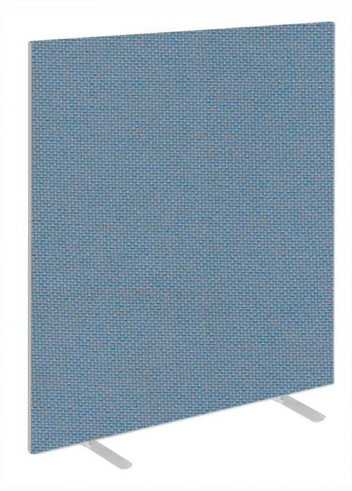 Impulse Plus Oblong 1650/1000 Floor Free Standing Screen Sky Blue Fabric Light Grey Edges