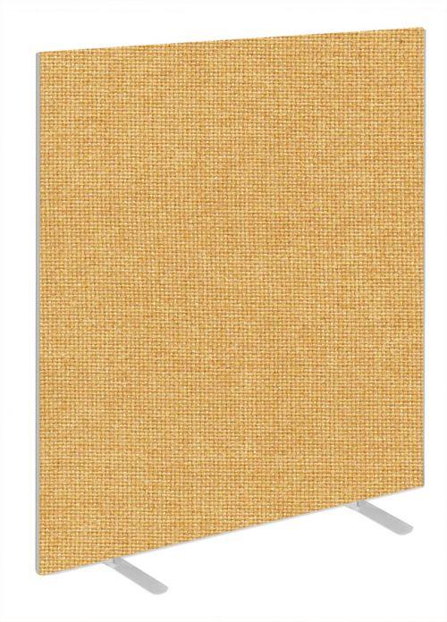 Impulse Plus Oblong 1650/1400 Floor Free Standing Screen Beige Fabric Light Grey Edges