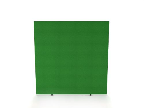Impulse Plus Oblong 1650/1400 Floor Free Standing Screen Palm Green Fabric Light Grey Edges