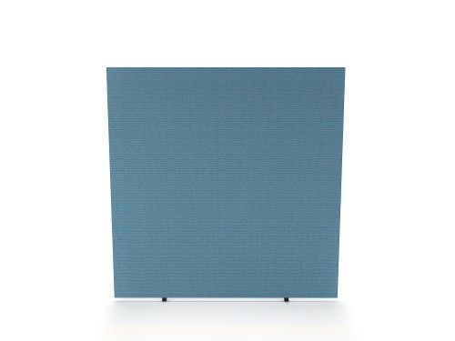 Impulse Plus Oblong 1650/1400 Floor Free Standing Screen Sky Blue Fabric Light Grey Edges