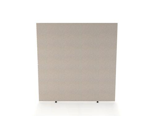 Impulse Plus Oblong 1650/1500 Floor Free Standing Screen Light Grey Fabric Light Grey Edges