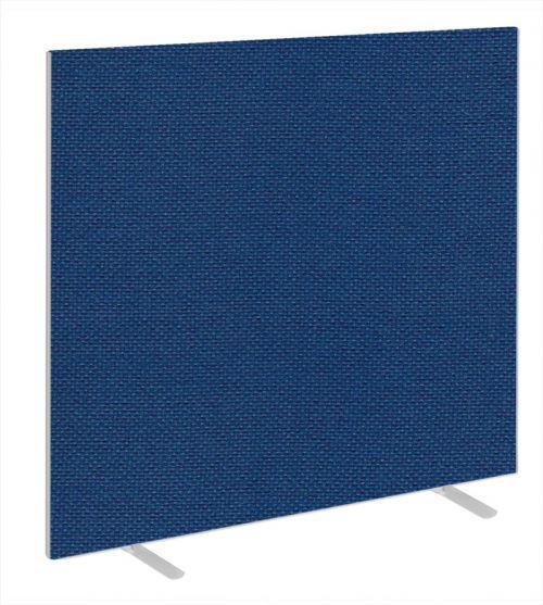 Impulse Plus Oblong 1650/1500 Floor Free Standing Screen Powder Blue Fabric Light Grey Edges