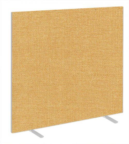Impulse Plus Oblong 1650/1600 Floor Free Standing Screen Beige Fabric Light Grey Edges