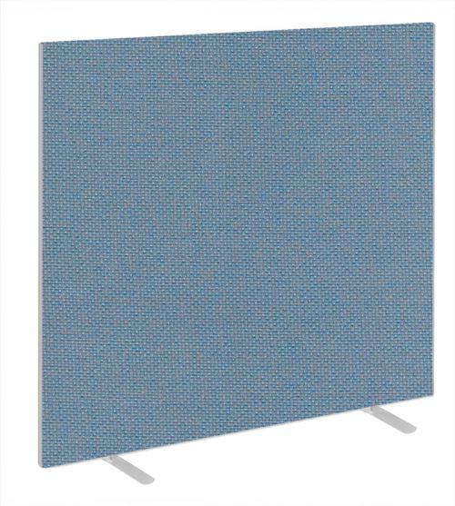 Impulse Plus Oblong 1650/1600 Floor Free Standing Screen Sky Blue Fabric Light Grey Edges