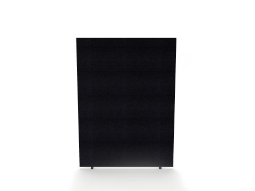 Impulse Plus Oblong 1500/600 Floor Free Standing Screen Black Fabric Light Grey Edges
