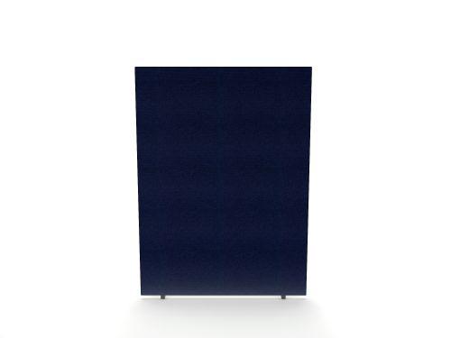 Impulse Plus Oblong 1500/600 Floor Free Standing Screen Royal Blue Fabric Light Grey Edges
