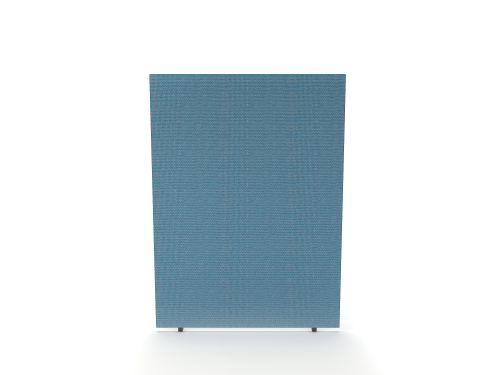 Impulse Plus Oblong 1500/600 Floor Free Standing Screen Sky Blue Fabric Light Grey Edges