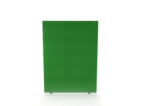 Impulse Plus Oblong 1500/1000 Floor Free Standing Screen Palm Green Fabric Light Grey Edges