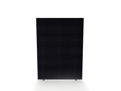 Impulse Plus Oblong 1500/1200 Floor Free Standing Screen Black Fabric Light Grey Edges