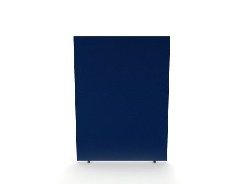 Impulse Plus Oblong 1500/1200 Floor Free Standing Screen Powder Blue Fabric Light Grey Edges