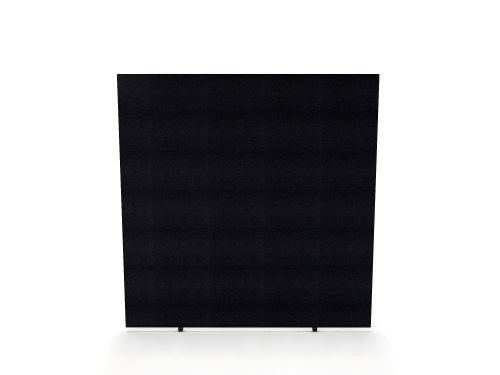 Impulse Plus Oblong 1500/1400 Floor Free Standing Screen Black Fabric Light Grey Edges