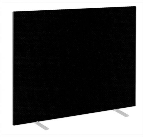 Impulse Plus Oblong 1500/1500 Floor Free Standing Screen Black Fabric Light Grey Edges