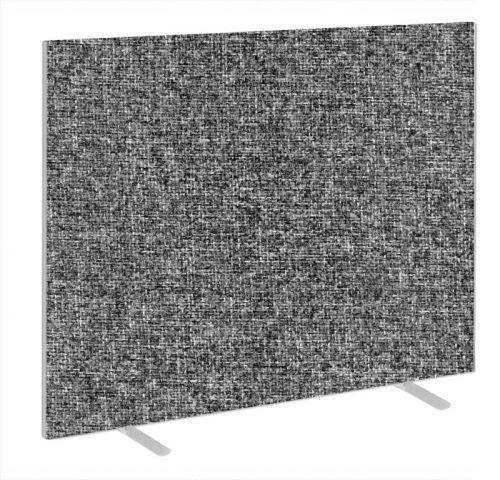 Impulse Plus Oblong 1500/1500 Floor Free Standing Screen Lead Fabric Light Grey Edges