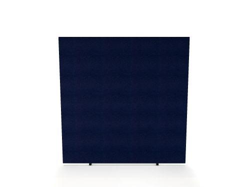 Impulse Plus Oblong 1500/1600 Floor Free Standing Screen Royal Blue Fabric Light Grey Edges