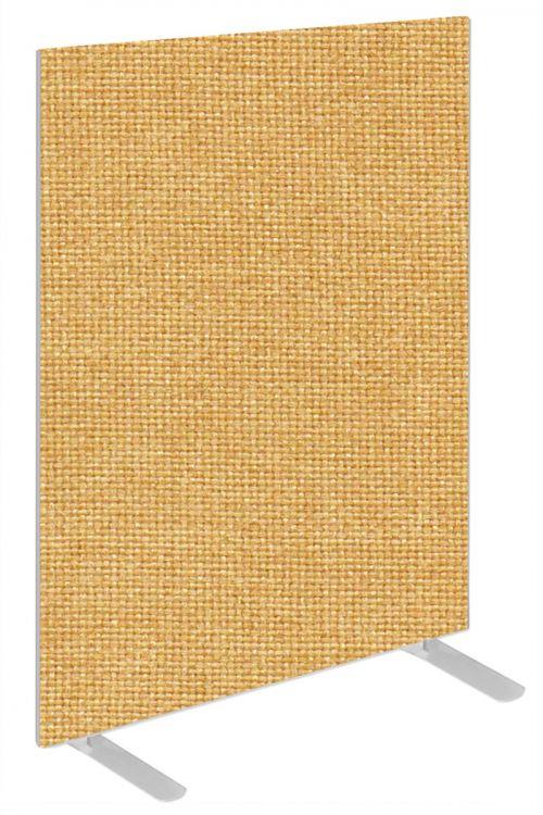 Impulse Plus Oblong 1200/600 Floor Free Standing Screen Beige Fabric Light Grey Edges