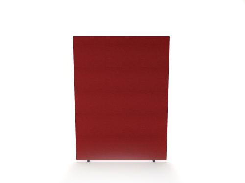 Impulse Plus Oblong 1200/600 Floor Free Standing Screen Burgundy Fabric Light Grey Edges
