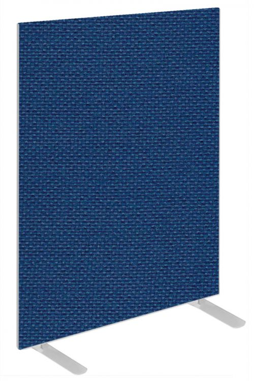 Impulse Plus Oblong 1200/600 Floor Free Standing Screen Powder Blue Fabric Light Grey Edges