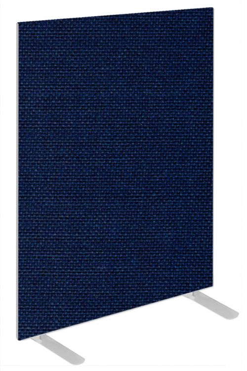 Impulse Plus Oblong 1200/600 Floor Free Standing Screen Royal Blue Fabric Light Grey Edges