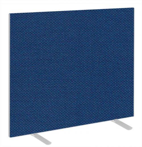 Impulse Plus Oblong 1200/1200 Floor Free Standing Screen Powder Blue Fabric Light Grey Edges