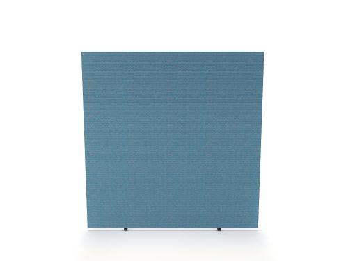 Impulse Plus Oblong 1200/1200 Floor Free Standing Screen Sky Blue Fabric Light Grey Edges