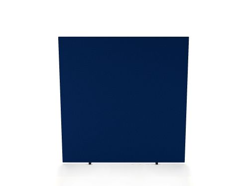 Impulse Plus Oblong 1200/1400 Floor Free Standing Screen Powder Blue Fabric Light Grey Edges